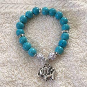 Elephant turquoise bracelet